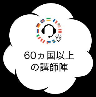 60ヵ国以上の講師陣