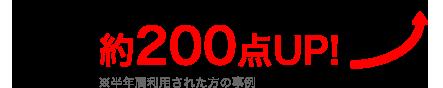 DMM英会話ユーザーのTOEICスコア 約200点 UP!